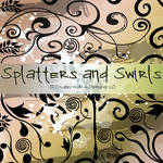 Swirls and Splatters Brushes by Coby17