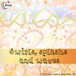 Swirls, splash and waves brush
