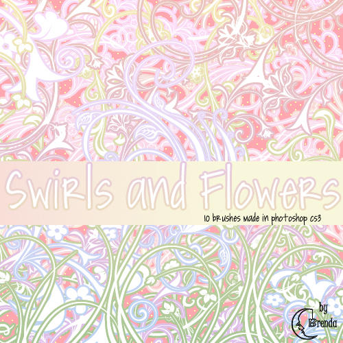 Swirls and Flowers Brushes by Coby17