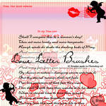 Love letter Brushes