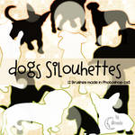 Dogs Silhouettes Brushes