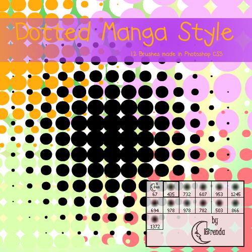 Dotted Manga Style Brushes