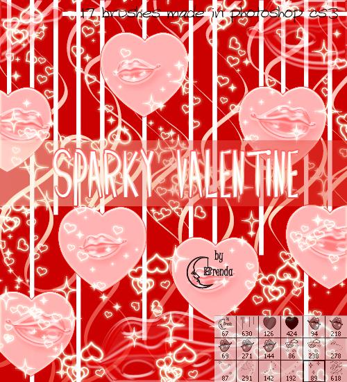Sparky Valentine Brushes