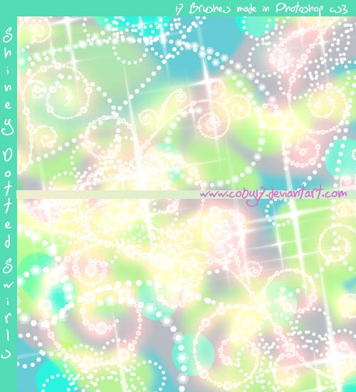 Shiny Dotted Swirls Photoshop Brushes