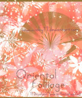 Oriental Folliage Brushes by Coby17