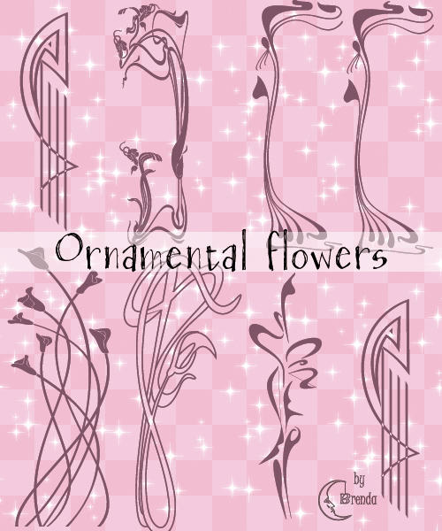 Ornamental Flowers Brushes by Coby17