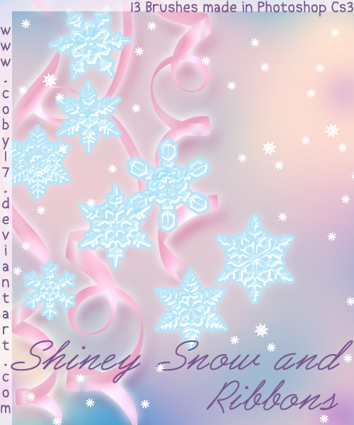 Shiney snow and Ribbons Brushe