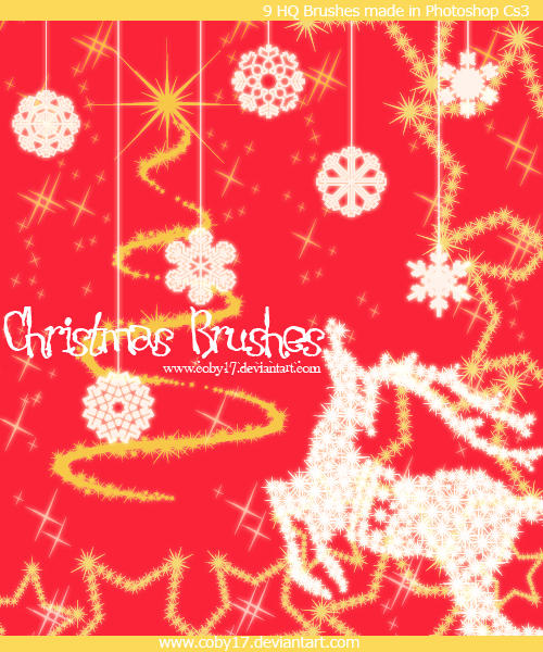Christmas Brushes by Coby17