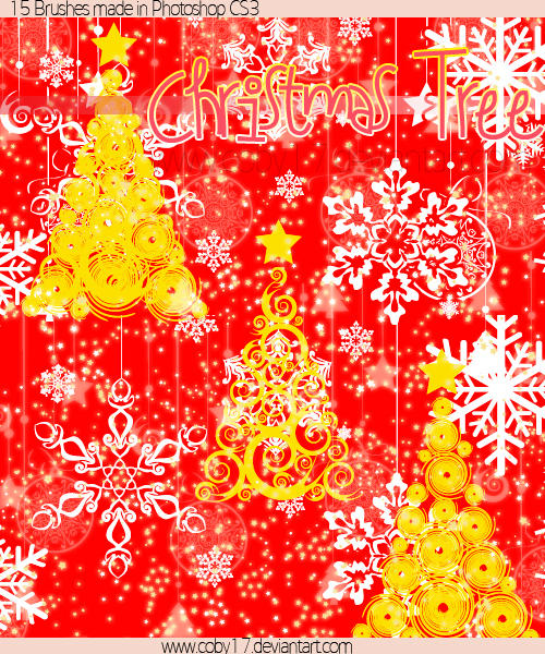 Christmas Tree Brushes by Coby17