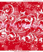 St.Valentine Swirls Glitters by Coby17