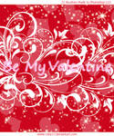St.Valentine Swirls Glitters