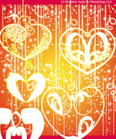 Hearts and Glitters Brushes by Coby17