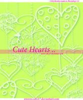 Cute Hearts Photoshop Brushes by Coby17