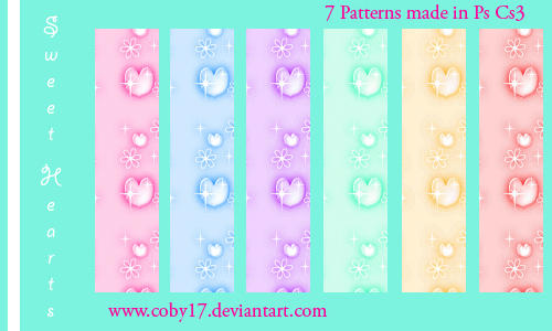 Sweet Hearts Patterns by Coby17