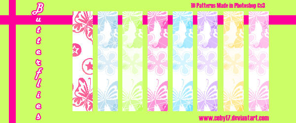 Butterflies Patterns PS by Coby17