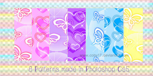 Butterflies and Hearts Patterns by Coby17
