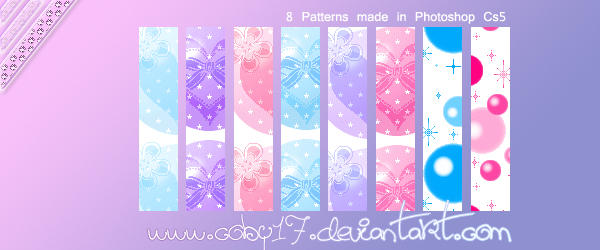 Kawaii Hearts Patterns. by Coby17