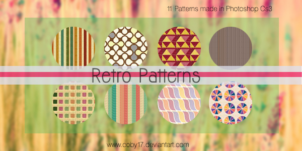 Retro Photoshop Patterns by Coby17