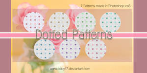 Dotted in white Patterns by brenda
