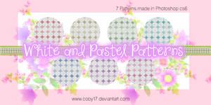 White and Pastel colors patterns