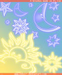 Sun, Moon and Stars Brushes