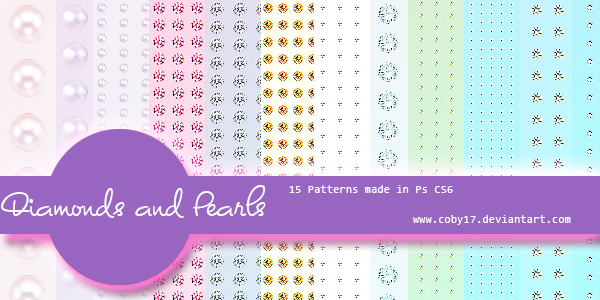 Diamonds and Pearls patterns by Coby17