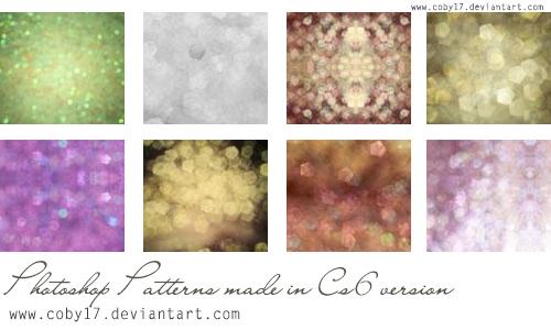 Glitters patterns