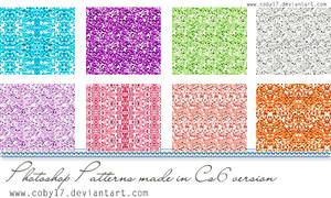 Glitters in colors patterns