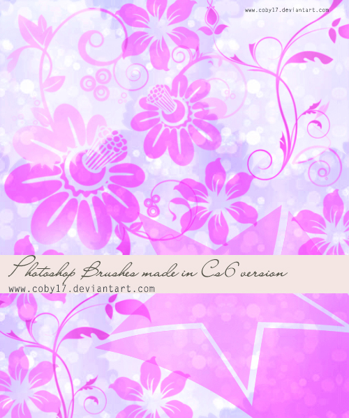 Flowers Brushes HQ by Coby17