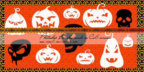 Pumpkins and Skulls Brushes by Coby17