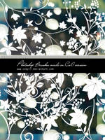 Floral swirls HD Photoshop Brushes by Coby17