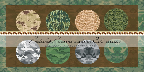 Camouflage Photoshop patterns by Coby17