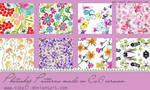 Floral Photoshop Patterns.