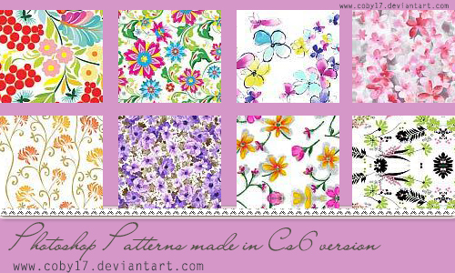 Floral Photoshop Patterns  by Coby17 on DeviantArt