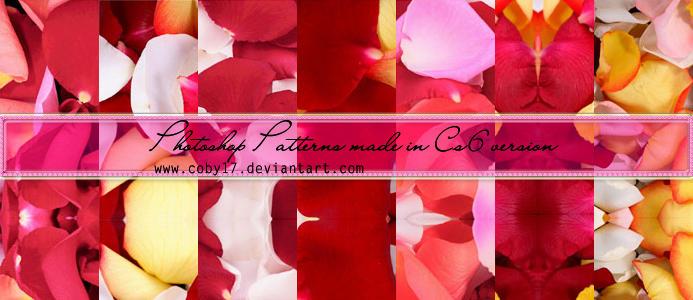 Flower Petals Photoshop Patterns
