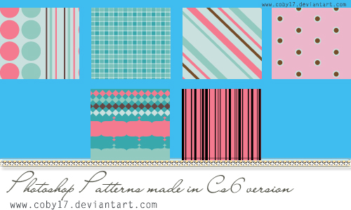 Pink and Blue Photoshop Pattern by Coby17 on DeviantArt
