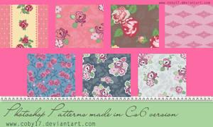 Vintage Flowers Photoshop Patterns