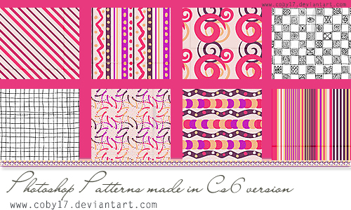 Pink Photoshop Patterns by Coby17