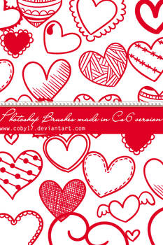 Hearts and Hearts Photoshop Brushes