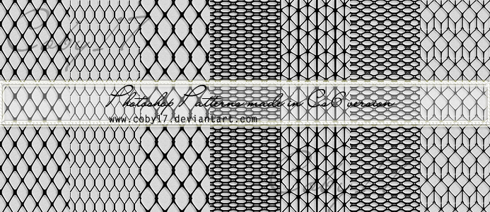 Mesh and Fishnet Patterns Photoshop by Coby17