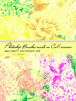 Hand Made Vintage Flowers Brushes