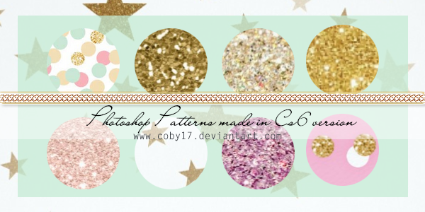 Gold and Shine patterns by Coby17 by Coby17