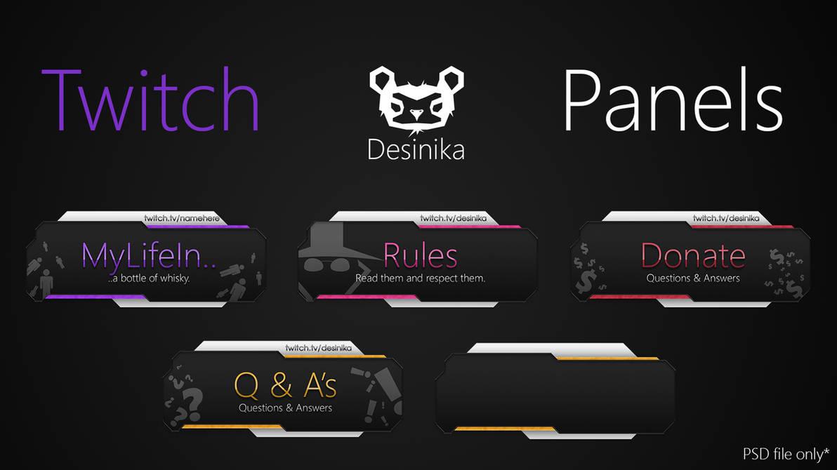 Оформление для Twitch панели PSD