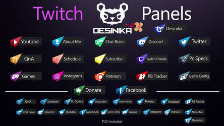 Twitch Desinika Panels v.2.3