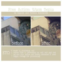 Free action: Warm Sepia