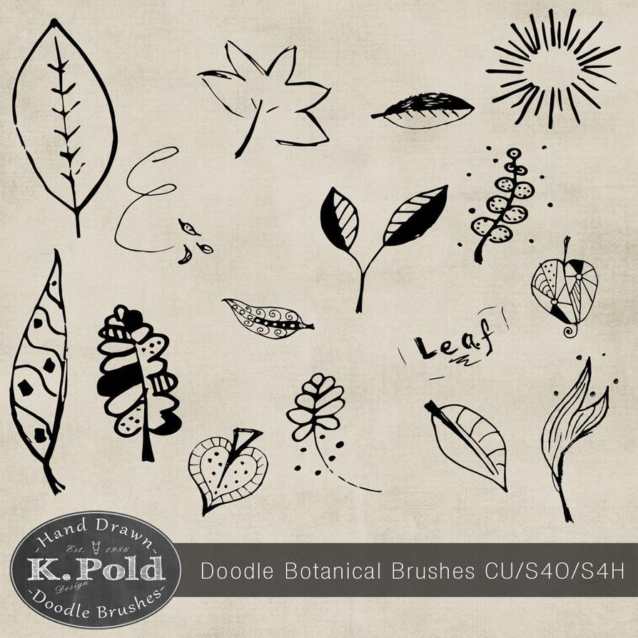 Botanical doodle photoshop brushes by Leopoldovna