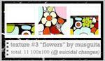 Textures 03 - Flowers by musguita