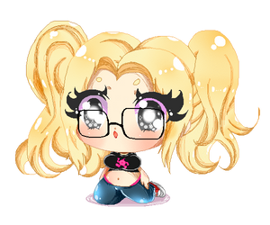 Plump Pixelated Pigtail Princess by MissMuffinTop
