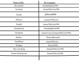 Social Media List