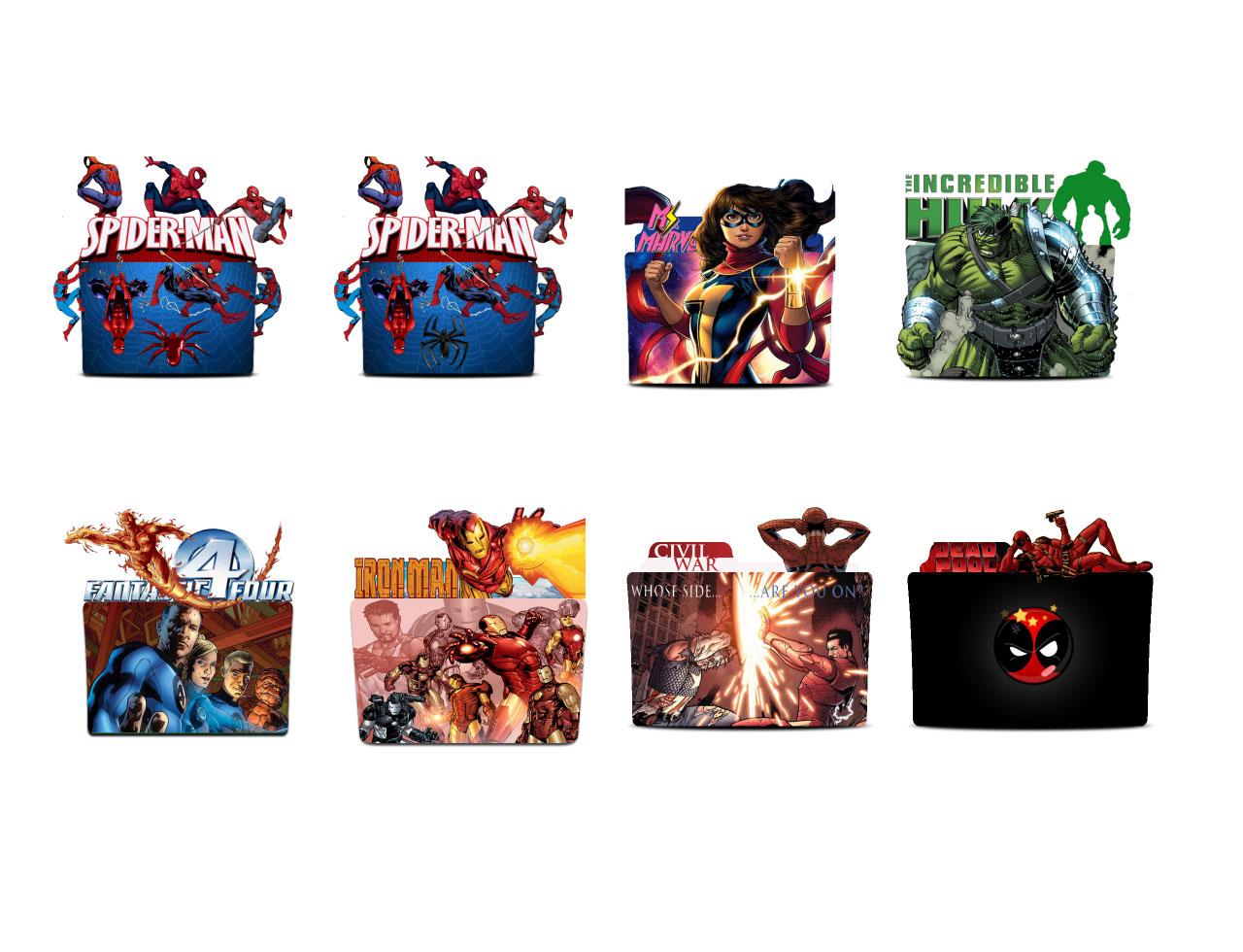 Marvel Comics Folder icon set by WanderlustSailor